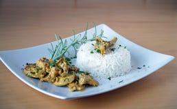 Reis mit dem Fleisch Stockfotos