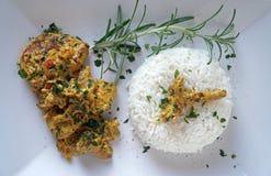 Reis mit dem Fleisch Lizenzfreie Stockbilder