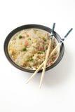 Reis mit drei Freudenchinesen Stockfotos