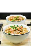 Reis mit einem Fisch und Gemüse Lizenzfreie Stockbilder