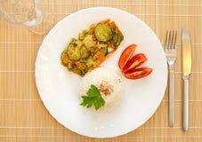 Reis mit Gemüse Lizenzfreies Stockfoto