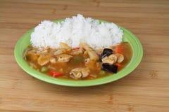 Reis mit Huhn Stockfotografie