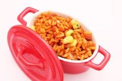 Reis mit Mais Stockbild