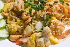 Reis mit Meeresfrüchten Lizenzfreies Stockbild