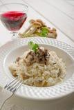 Reis mit Pilz stockbild