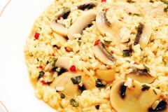 Reis mit Pilzen Lizenzfreies Stockfoto