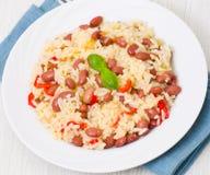 Reis mit roten Bohnen Lizenzfreies Stockfoto