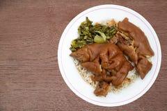 Reis mit Schweinefleisch Stockbild