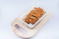Reis mit Schweinefleischkotelett Tonkatsu Lizenzfreies Stockbild
