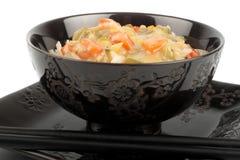 Reis mit Soße Lizenzfreies Stockfoto