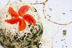 Reis mit Spinat Stockbilder