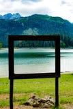 Reis in Montenegro reeks - mening van mooi Zwart Meer, Durmitor Stock Fotografie