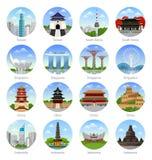 Reis naar Azië stock illustratie