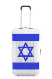 Reis naar Israel Concep Koffer met de vlag van Israël het 3d teruggeven stock illustratie