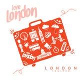 Reis naar Londen Engeland Oriëntatiepuntenmonumenten royalty-vrije stock fotografie