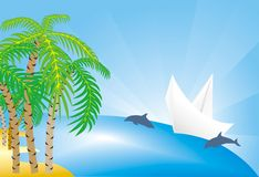 Reis naar tropische eilanden Stock Fotografie