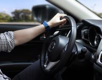 Reis op de weg Drijvend op de weg, reis, rit krijg vanaf de routine stock afbeelding