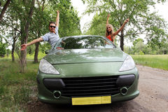 Reis op een auto Stock Foto