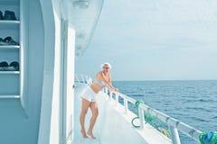 Reis op het jacht royalty-vrije stock foto's