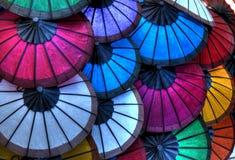 Reis-Papier-Regenschirme Lizenzfreie Stockfotografie