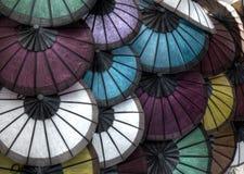 Reis-Papier-Regenschirme Stockbild