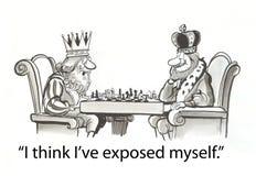 Reis que jogam a xadrez Imagem de Stock Royalty Free