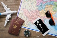 Reis, reisvakantie, toerismemodel Royalty-vrije Stock Afbeeldingen