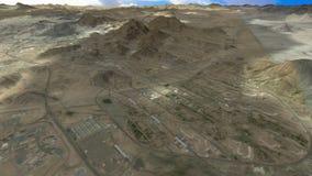 Reis tussen de heilige stad Makkah en de heilige plaatsen vector illustratie