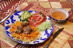 Reis u. vegatables stockbild