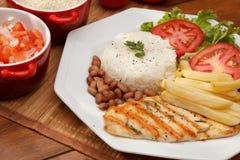 Reis und Bohnen Stockfoto