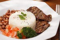 Reis und Bohnen Stockbild