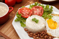 Reis und Bohnen Lizenzfreie Stockfotos