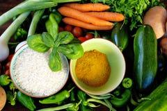 Reis und Curry lizenzfreies stockfoto