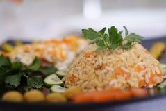 Reis und Fische stockfotos