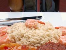Reis und Garnele Lizenzfreie Stockbilder
