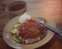 Reis und gebratene Ente Lizenzfreie Stockfotos