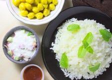 Reis und Kichererbsencurry Lizenzfreies Stockbild