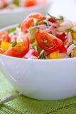 Reis- und Kirschtomatesalat Stockfotografie