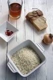 Reis und Parmesankäse Lizenzfreie Stockbilder