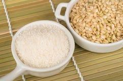 Reis und Reisgrieß Stockbild