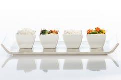 Reis und sautéed Gemüse Stockfoto