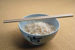 Reis und Steuerknüppel Stockfoto