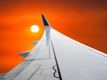 Reis, Vakantie, Zaken, Zonsopgang, het Vliegen royalty-vrije stock afbeelding