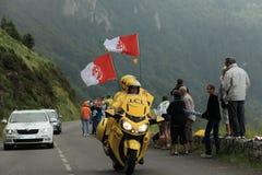Reis van de officiële fiets van Frankrijk Stock Foto's