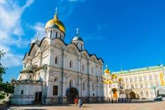 Reis 15 van het Kremlin: De aartsengel en de Aankondiging cathed royalty-vrije stock afbeeldingen