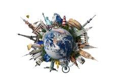 Reis, wereldoriëntatiepunten royalty-vrije stock foto's