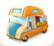 Reisaanhangwagen Kamperend, vectorpictogram vector illustratie