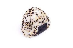 Reisball Onigiri lokalisiert im weißen backgound Stockfoto