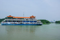 Reisboot op Tai Lake Wuxi China Royalty-vrije Stock Foto's