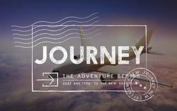 Reise-Abenteuer-Beitrags-Stempel-Reise-Konzept lizenzfreies stockfoto